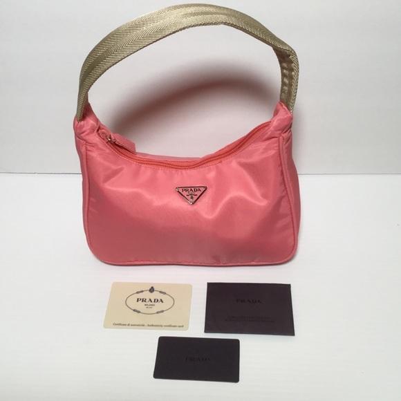 c3d6bae1 PRADA Tessuto Sport Bag Purse Begonia Inc. Cards